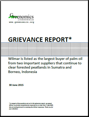 The Grievance Report Wilmar cases Greenomics 30June2015