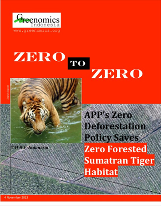 APP's Zero Deforestation Policy Saves Zero Forested Sumatran Tiger Habitat